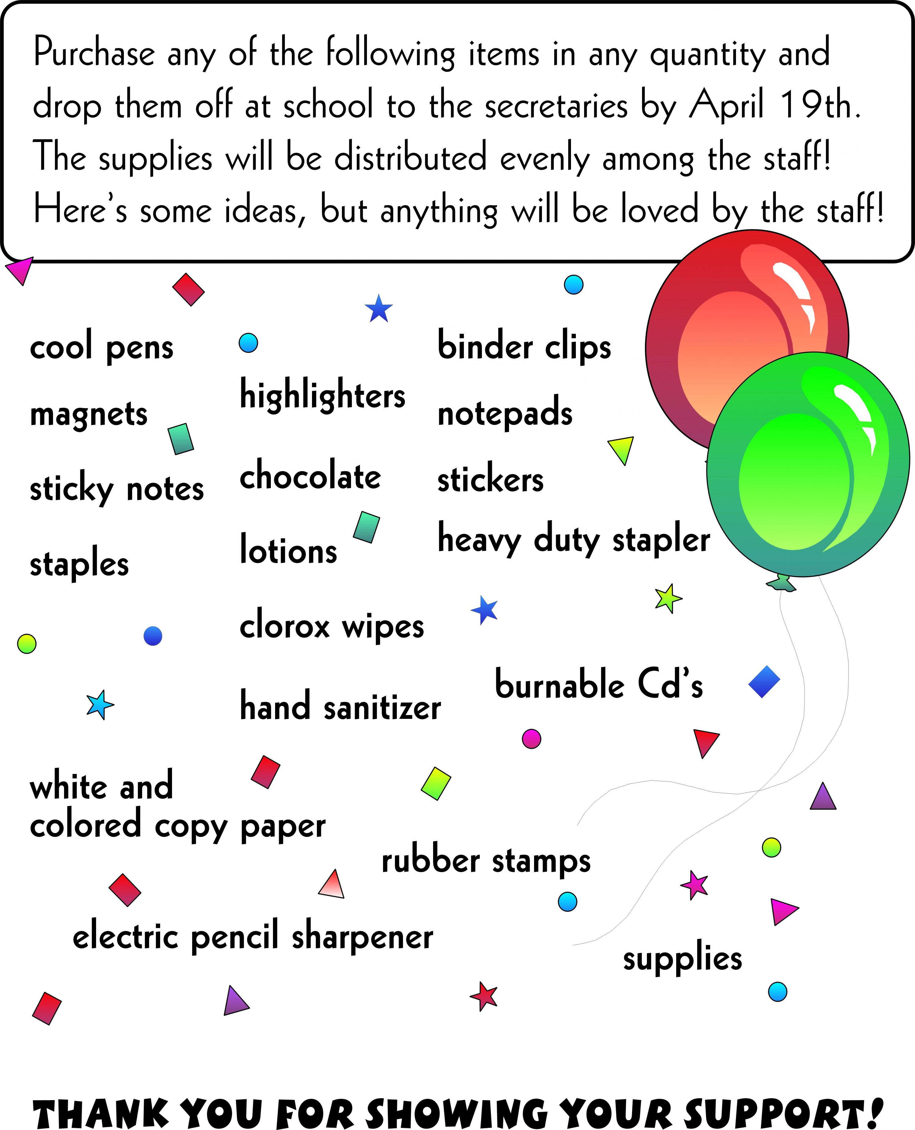 Appreciation Flyer Ideas